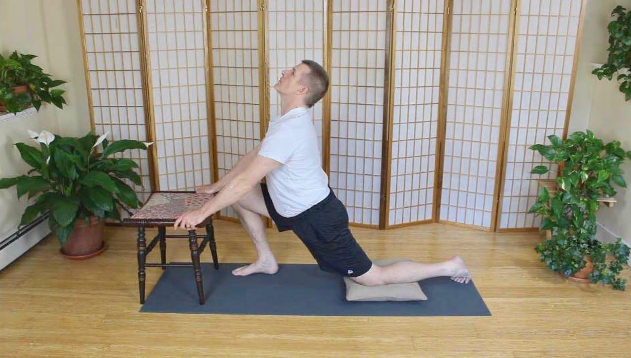 Lunge Stretch for Left Hip Flexors