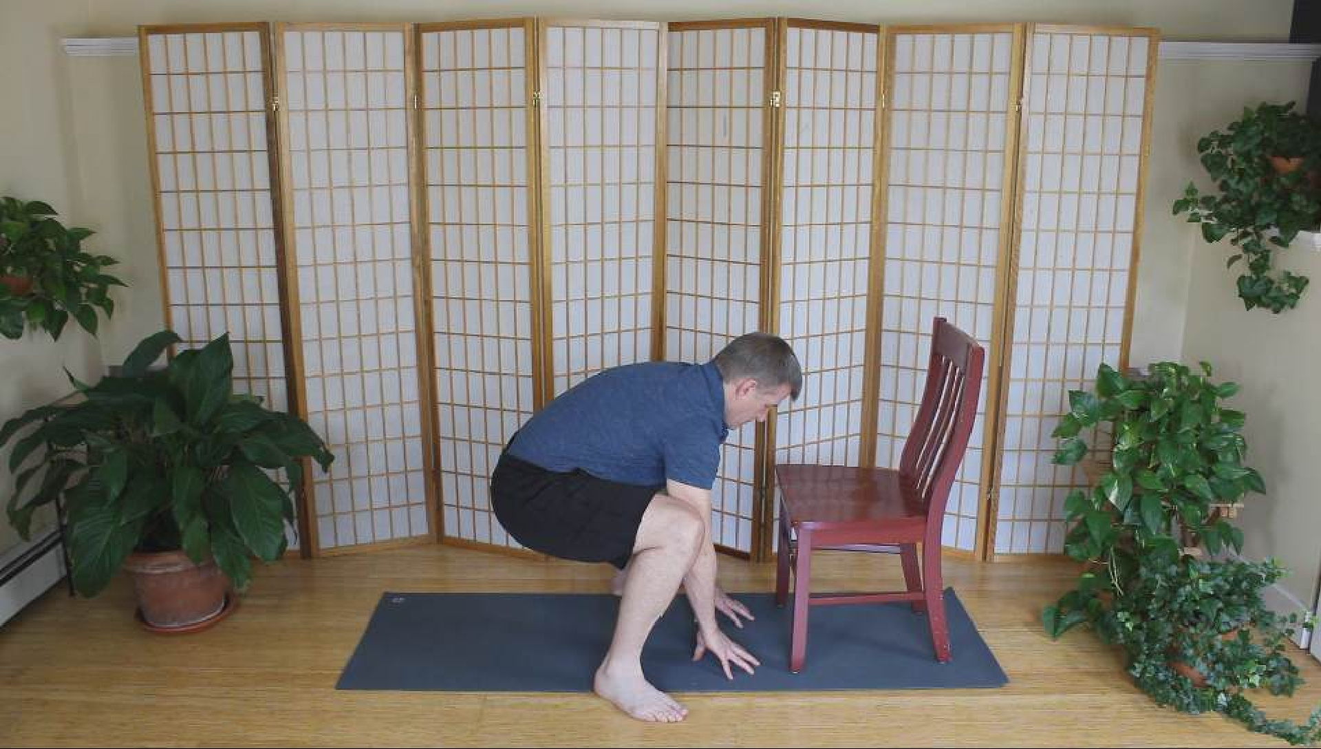 Beginning full squat position